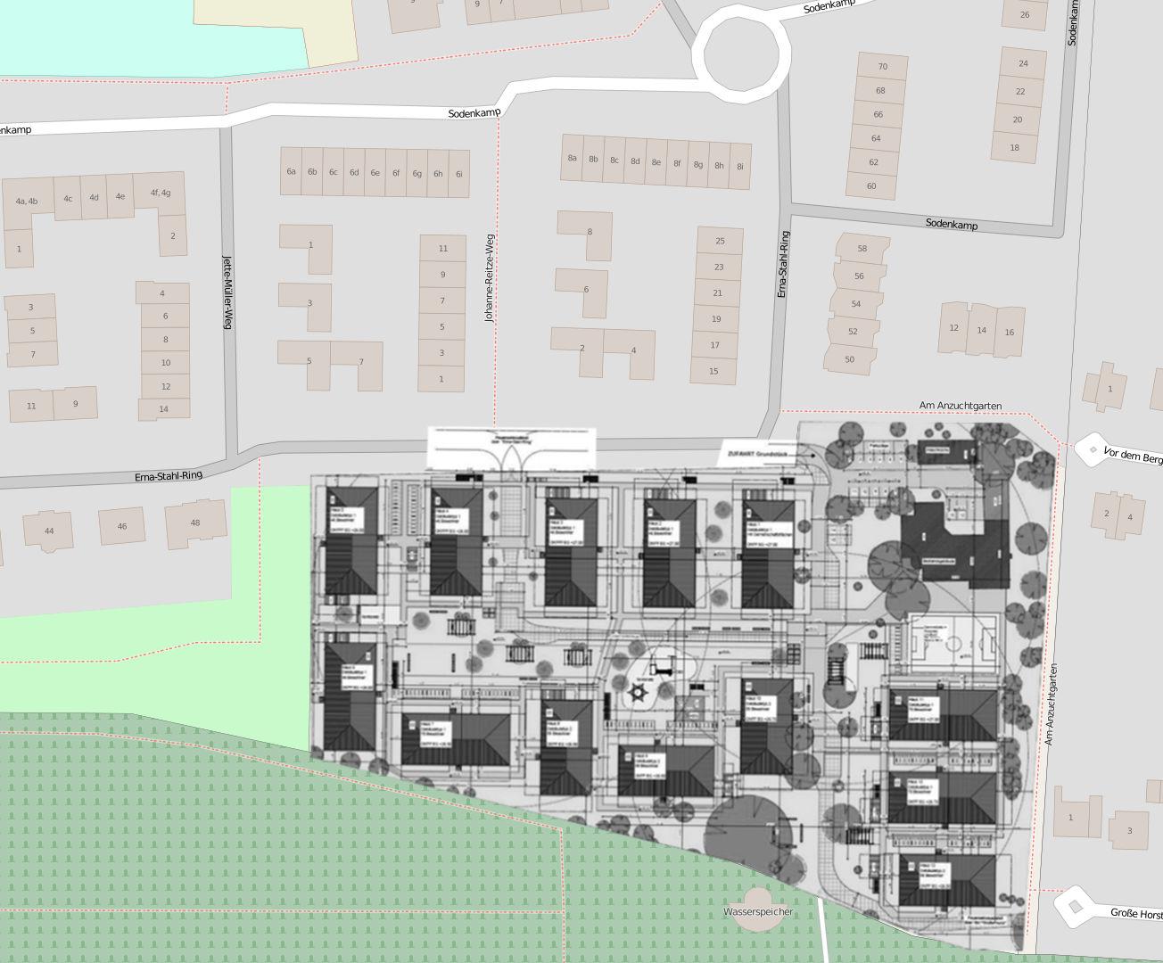 Collage von OpenStreetMap und der Präsentation der BASFI