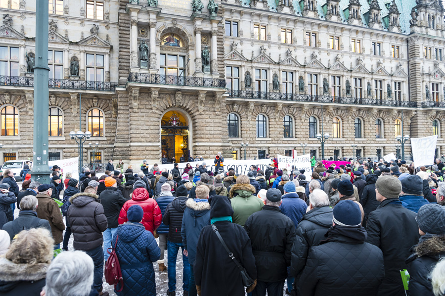 Demonstration 19.01.2016 © Lebenswertes Klein Borstel e.V.
