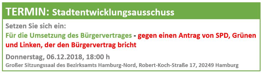 Banner Stadtentwicklungsausschuss